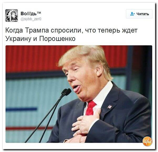 Прикольная картинка Когда Трампа спросили