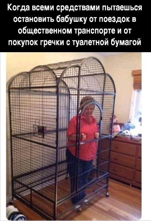 Прикольная картинка Пытаешься остановить бабушку на карантине