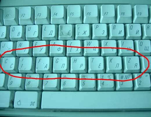Прикольная картинка Переделать клавиши на клавиатуре